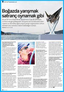 Bosphorus Cup öncesi Orhan Gorbonileyarışın detaylarını konuştuğumuz röportajımızı Mayıs MBY'de okuyabilirsiniz.