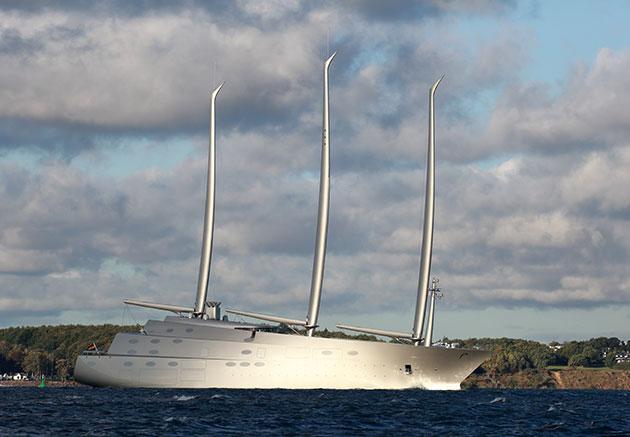 Lüks gigayat Sailing Yacht A tutuklandı