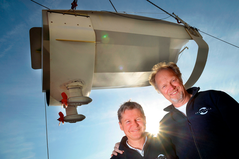Kurucular Alain Thebault ve Anders Bringdal SeaBubbles 'ın tekne dünyasının çevre dostu Uber'i olacağını söylüyor.