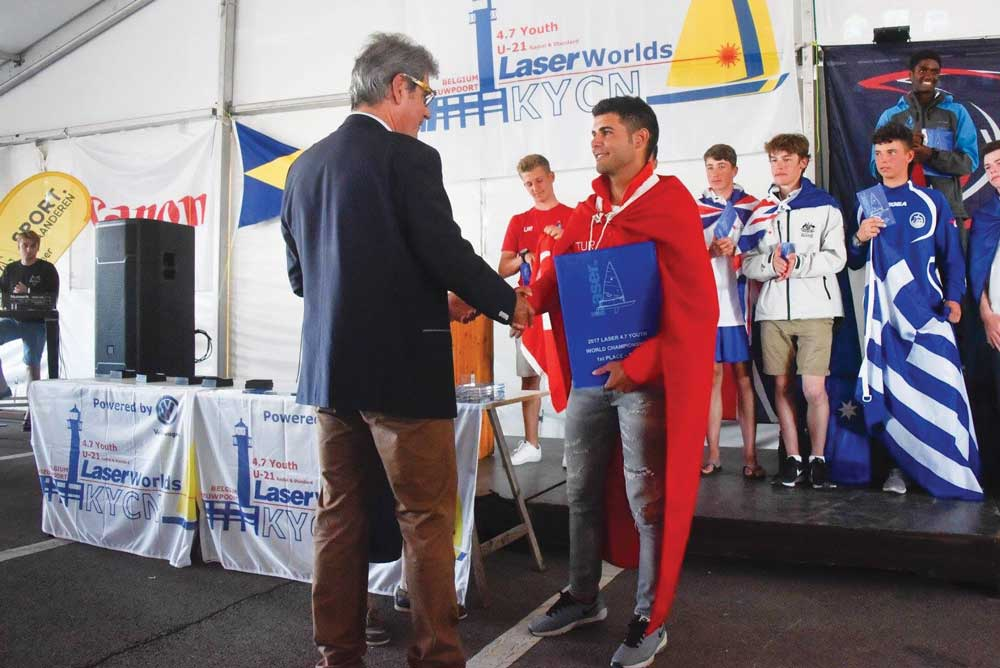 Dünya Gençler Laser Şampiyonas Ödül Töreni