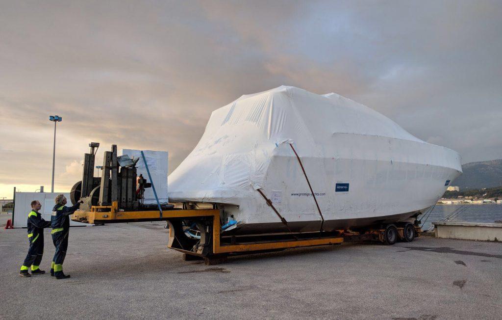 2018 Boat Show tekneleri Mega Yacht Transport'la taşındı