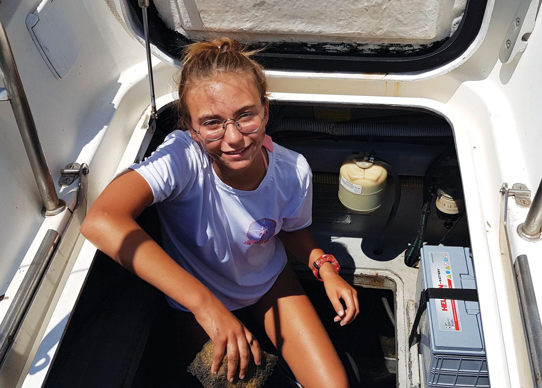 13 yaşında okyanus hayali kuran Ada Akpınar