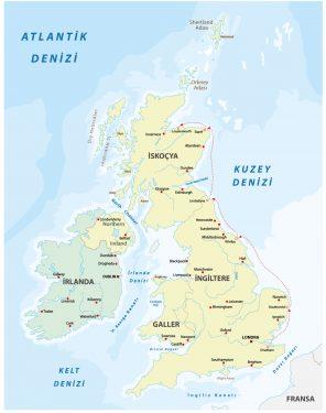 Britanya gezi yazısı - 1. bölüm harita