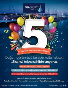 Viaport Marina doğum günü kutlaması
