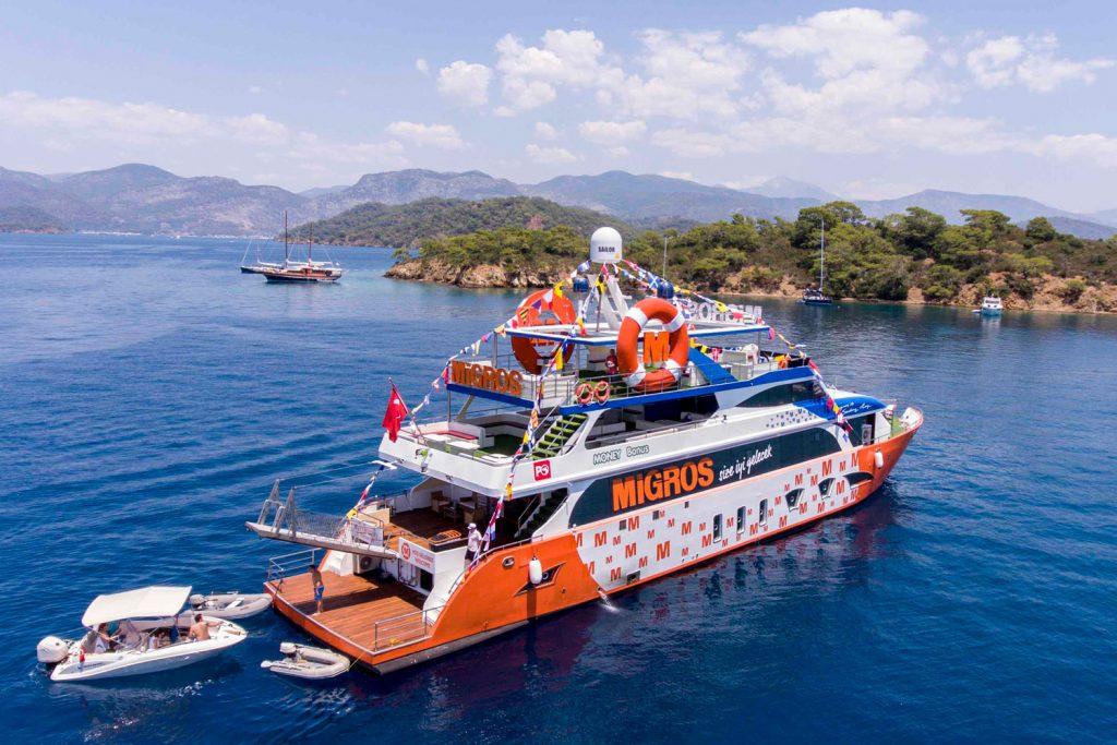 Denizcilere büyük kolaylık: Migros Deniz Market