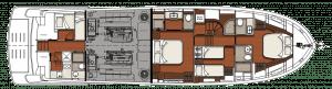 Vicem Cruiser 67 - Yerleşim Planı