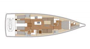 X Yachts X56 - Yerleşim planı