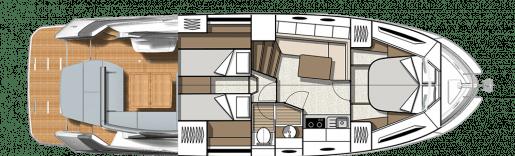 Beneteau Gran Turismo 41 - Yerleşim planı