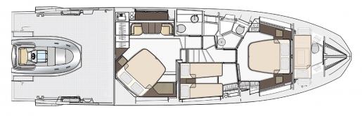 Azimut S6 - Yerleşim Planı
