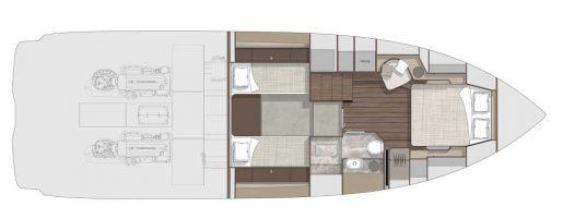 Cranchi A46 Luxury Tender - Yerleşim planı