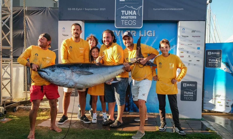 Tuna Masters Teos'ta 95,9 kiloluk orkinos